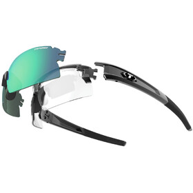 Tifosi Escalate HS Glasses Herr gloss black - clarion green/ac red/clear